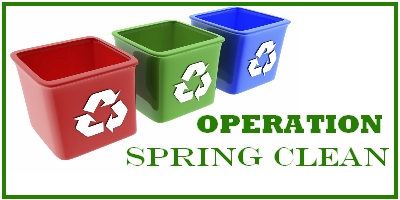 Spring Cleaning and Recycling